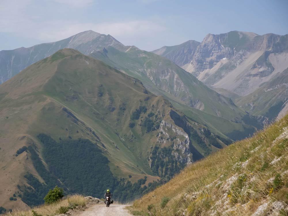 Monti sibillini in moto - monte della sibilla